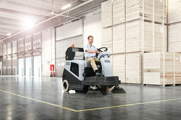 The SW5500 is a great mid-sized industrial floor sweeper